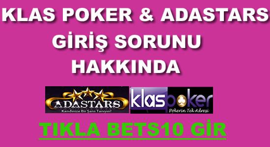 Klas Poker&Adastars Girilmiyor