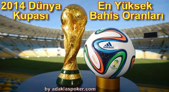 2014 Dünya Kupası Bahis Oranları