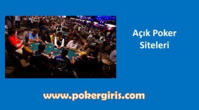 Açık Poker, Nasıl Oynanır, Siteleri